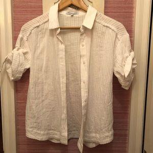 Heartloom button down white shirt never worn!!!